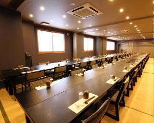 2階大広間:テーブル後方