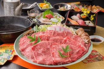 あつみ牛すき焼きコース(2時間飲み放題付き)