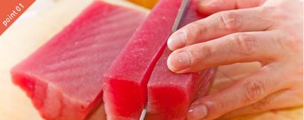 お刺身・お寿司に本マグロのみ使用